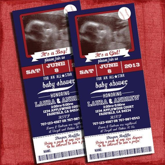 Printable Baseball Ticket Invitations