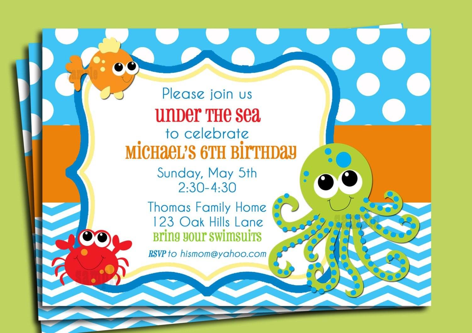 Printable Beach Shower Invitation