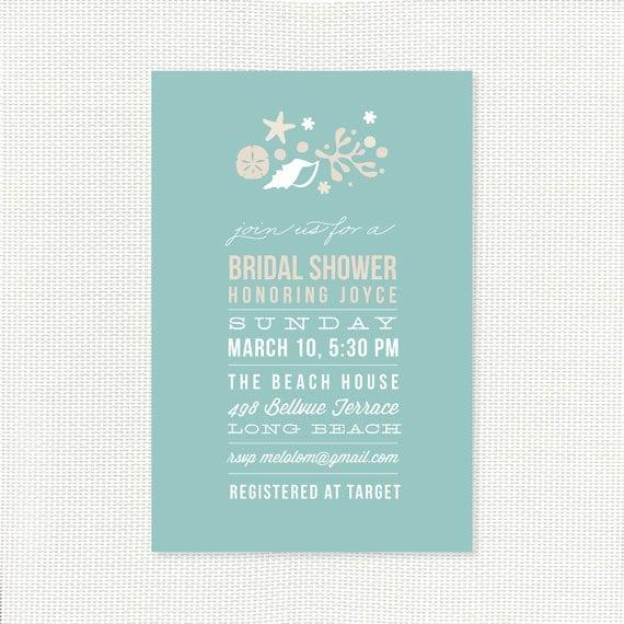 Printable Beach Shower Invitation