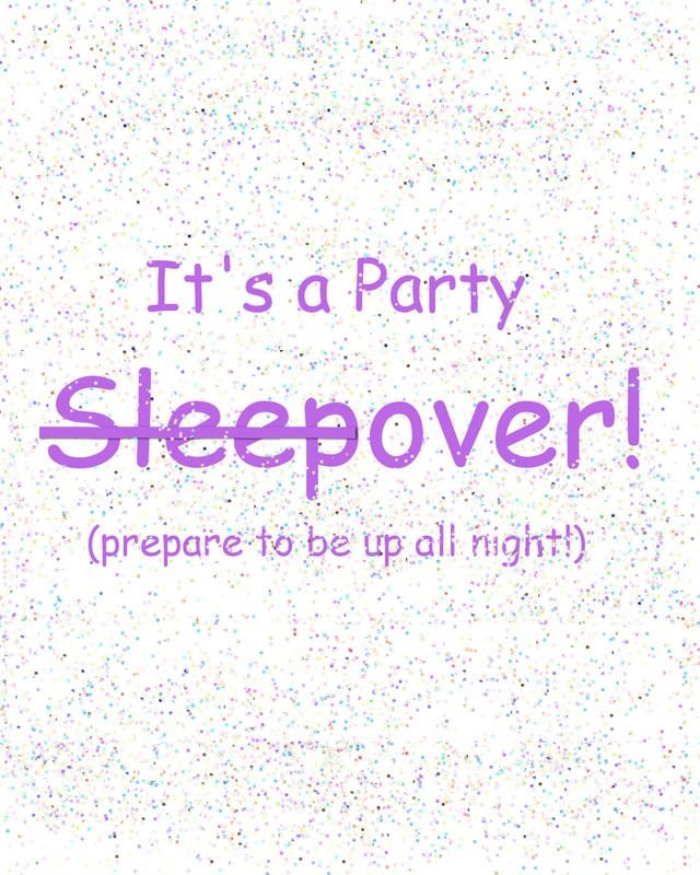 Printable Birthday Slumber Party Invitations