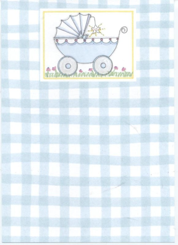 Printable Blank Baby Boy Shower Invitation