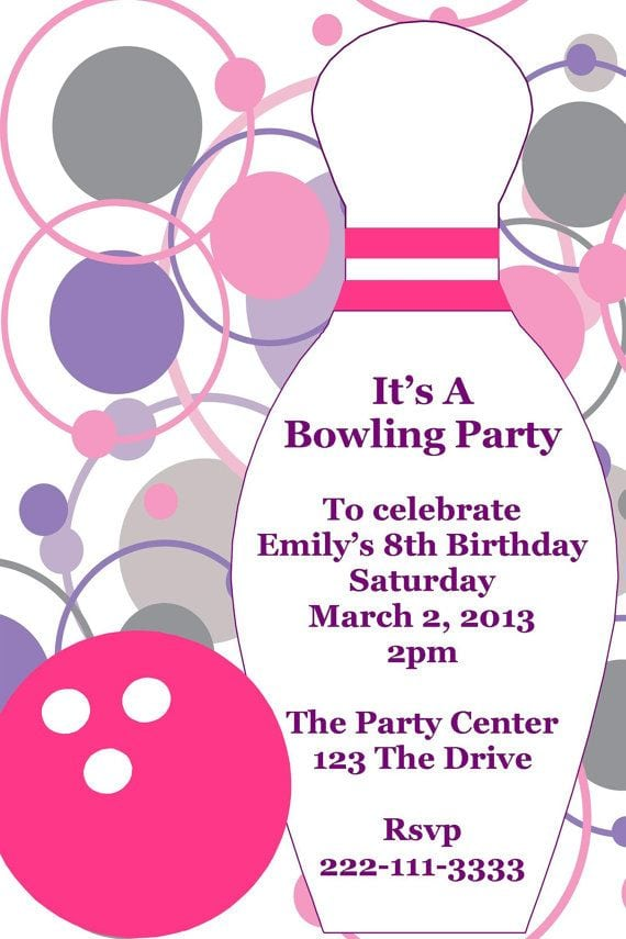 Printable Bowling Party Invitations