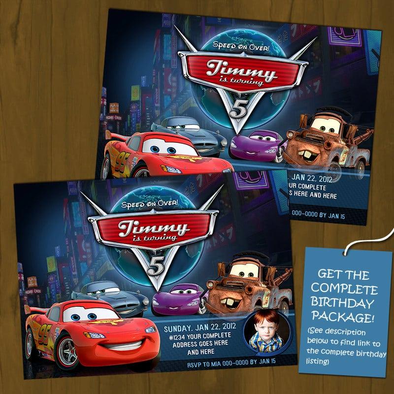 Free Printable Disney Cars 2 Birthday Invitation