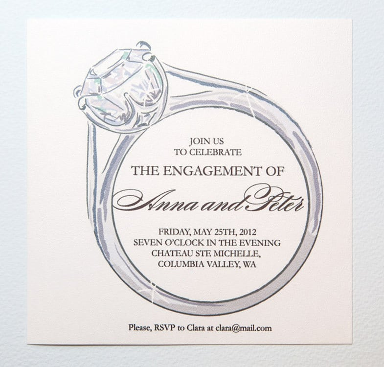 Printable Engagement Party Invitation Template