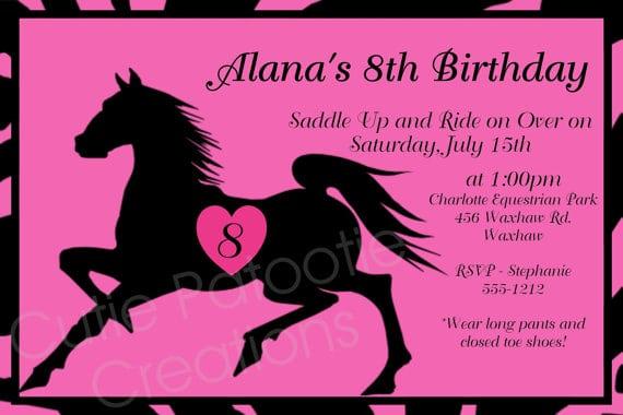 Printable Horse Invitations