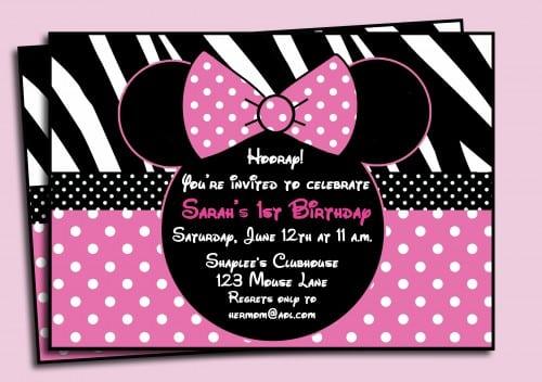 Printable Invitation Minnie Mouse