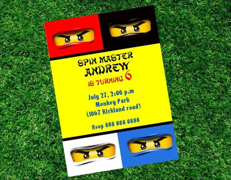 Printable Lego Ninjago Invitation