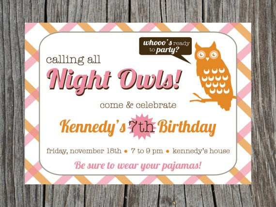 Printable Sleepover Invitations