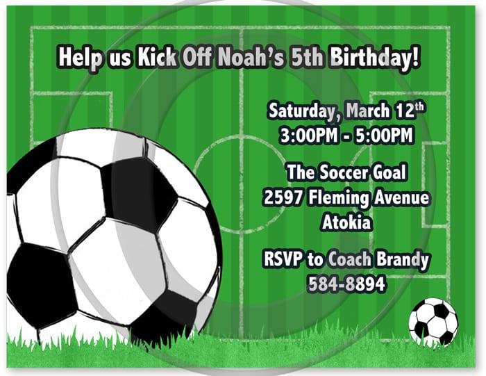 Birthday Soccer Printable Invitation