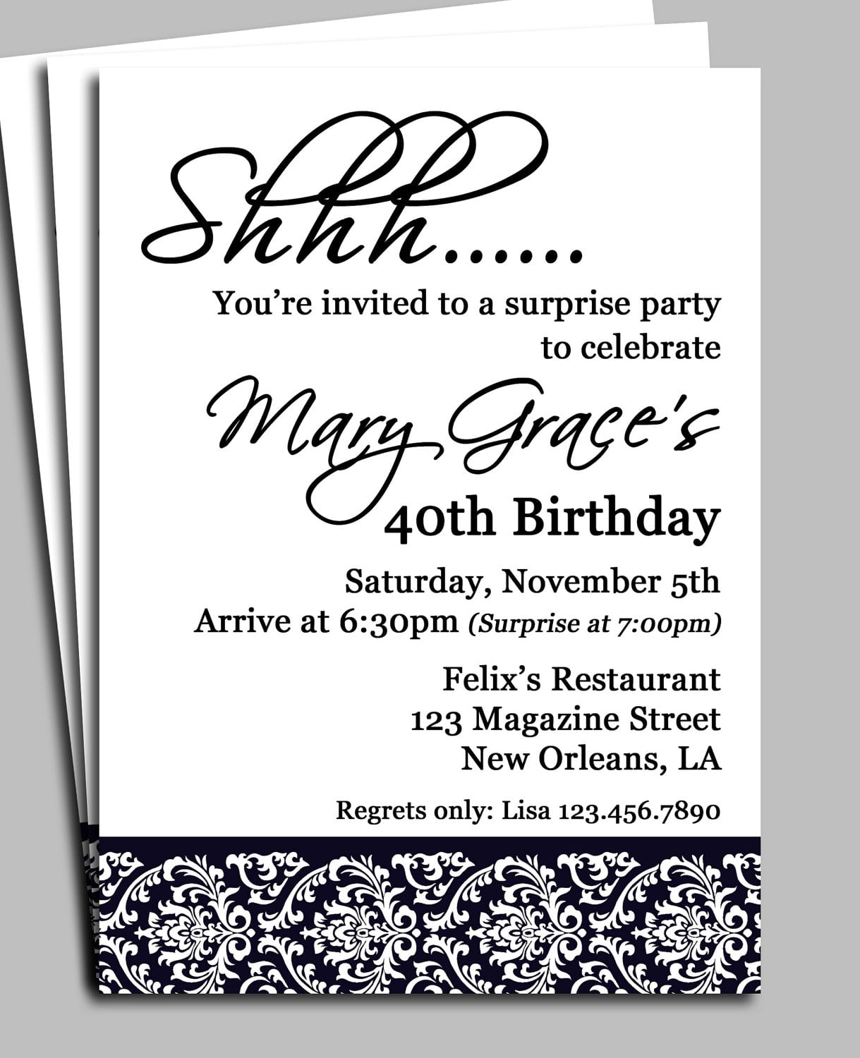 Printable Surprise Party Invitation