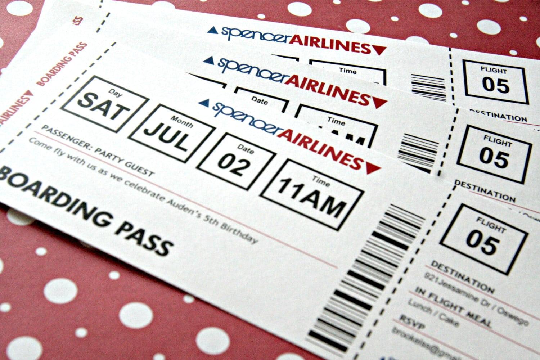 Printable Ticket Invitation