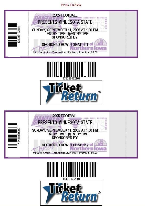 Printing Ticket Invitations