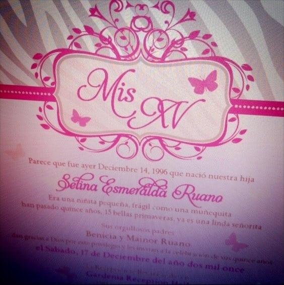 Quinceanera Invitation Ideas Pinterest