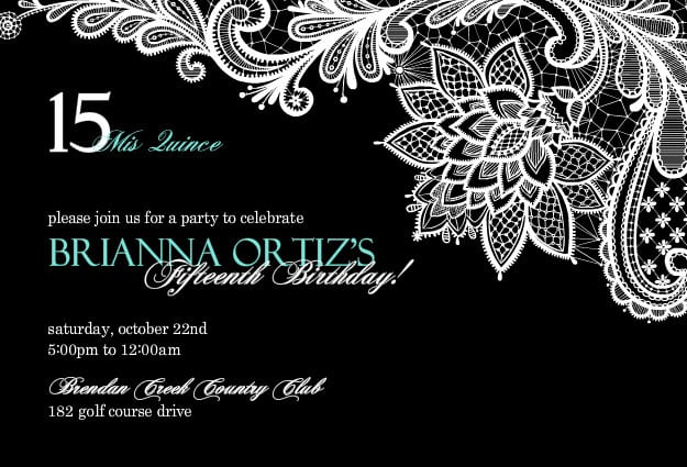 Quinceanera Invitation Templates For Free