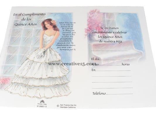 Quinceanera Invitations In English And Spanish