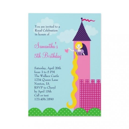 Rapunzel Birthday Invitation Wording