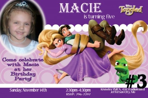 Rapunzel Invitation Template