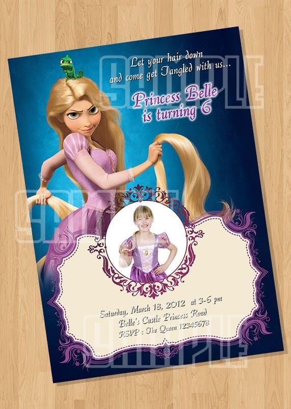 Rapunzel Party Invitation Template