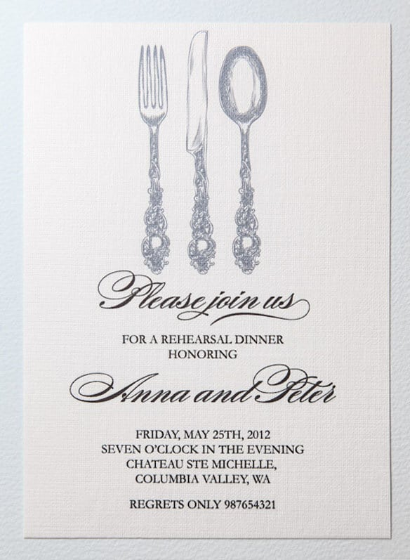 dinner invitation template free printable  template, Quinceanera invitations