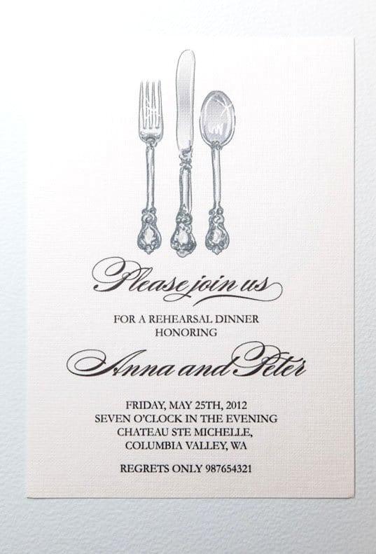 Dinner Invitation Template Free Printable – Free Dinner Invitation