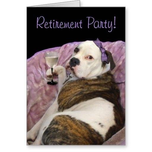 Retirement Invitation Cards In English