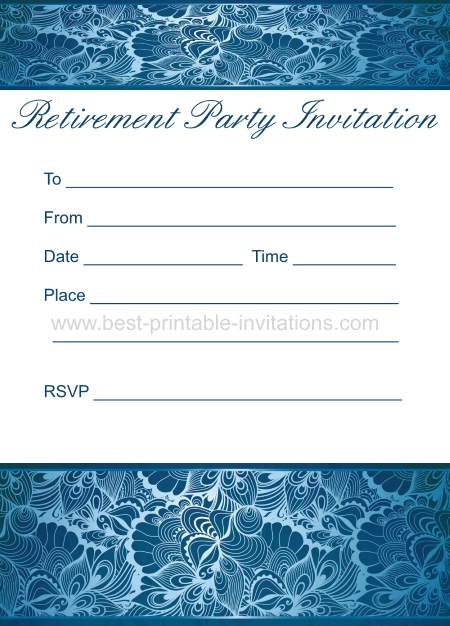 Retirement Printable Invitation
