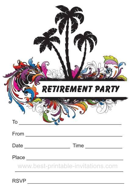 Retirement Printable Invitations