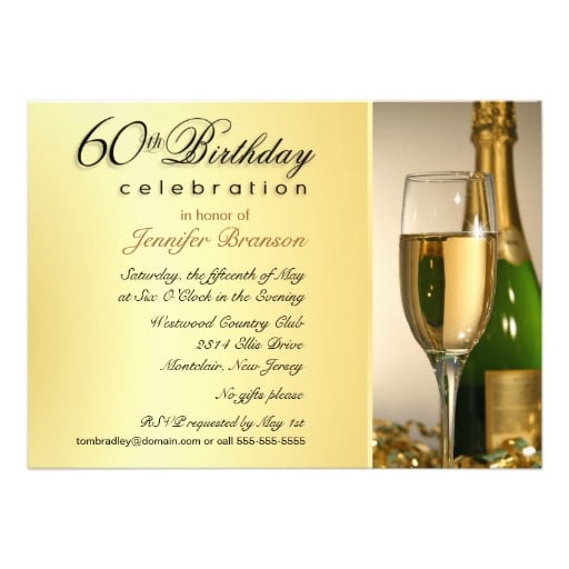 Sample 60th Birthday Party Invitations