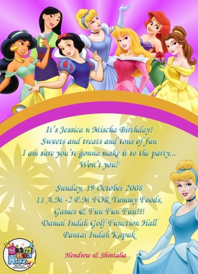 Sample Birthday Invitation Cards Theme