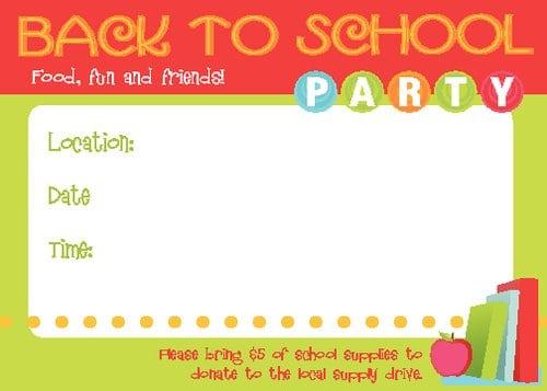School Party Invitation Template