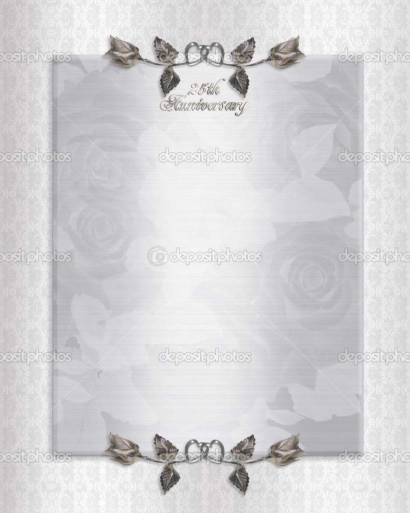 Silver Anniversary Invitation Templates