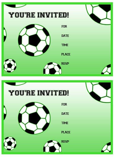 Soccer Birthday Party Invitation Free Printable
