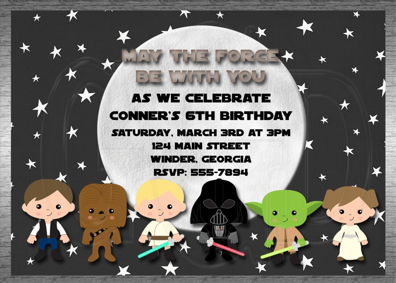 Star Wars Invitations To Print