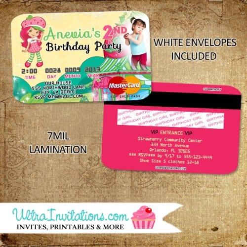 Strawberry Shortcake Baby Shower Invitation Wording