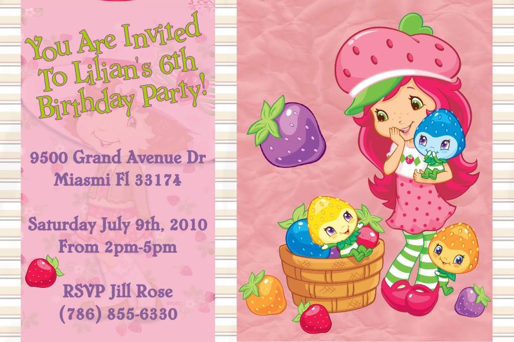 Strawberry Shortcake Invitations Walmart