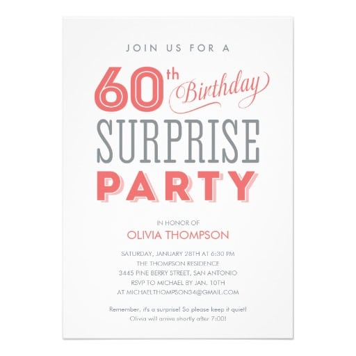 Suprise Party Invitation Free Template