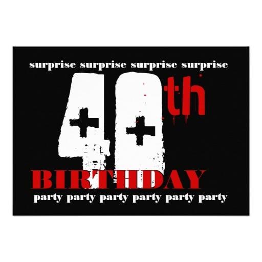 Surprise 40th Birthday Invitation Template