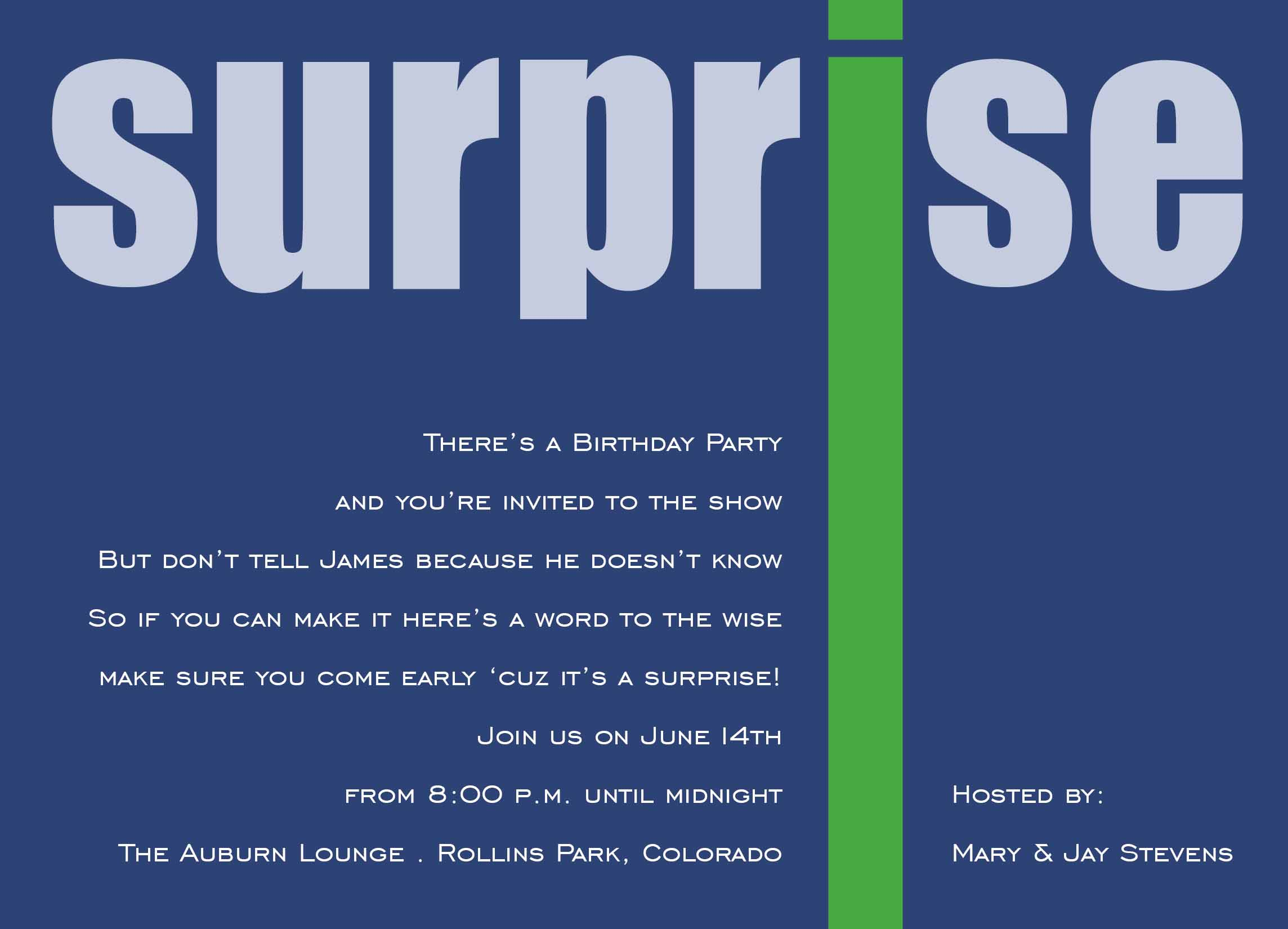 Surprise 50th Birthday Party Invitations Free Templates