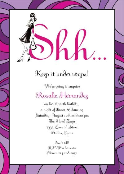 Surprise Party Invitation Free Templates