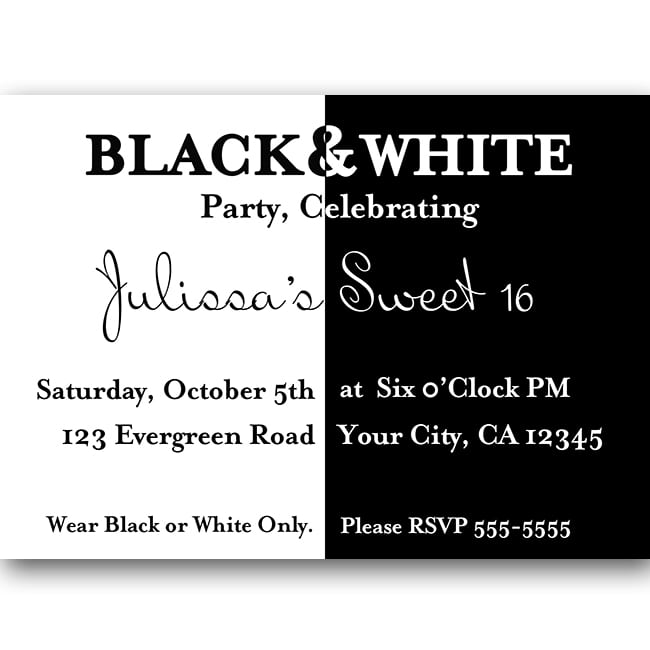 Sweet 16 Birthday Invitation Designs