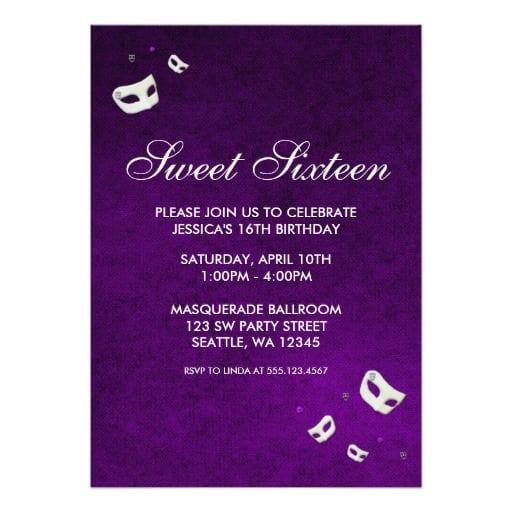 Sweet 16 Invitation Free Download