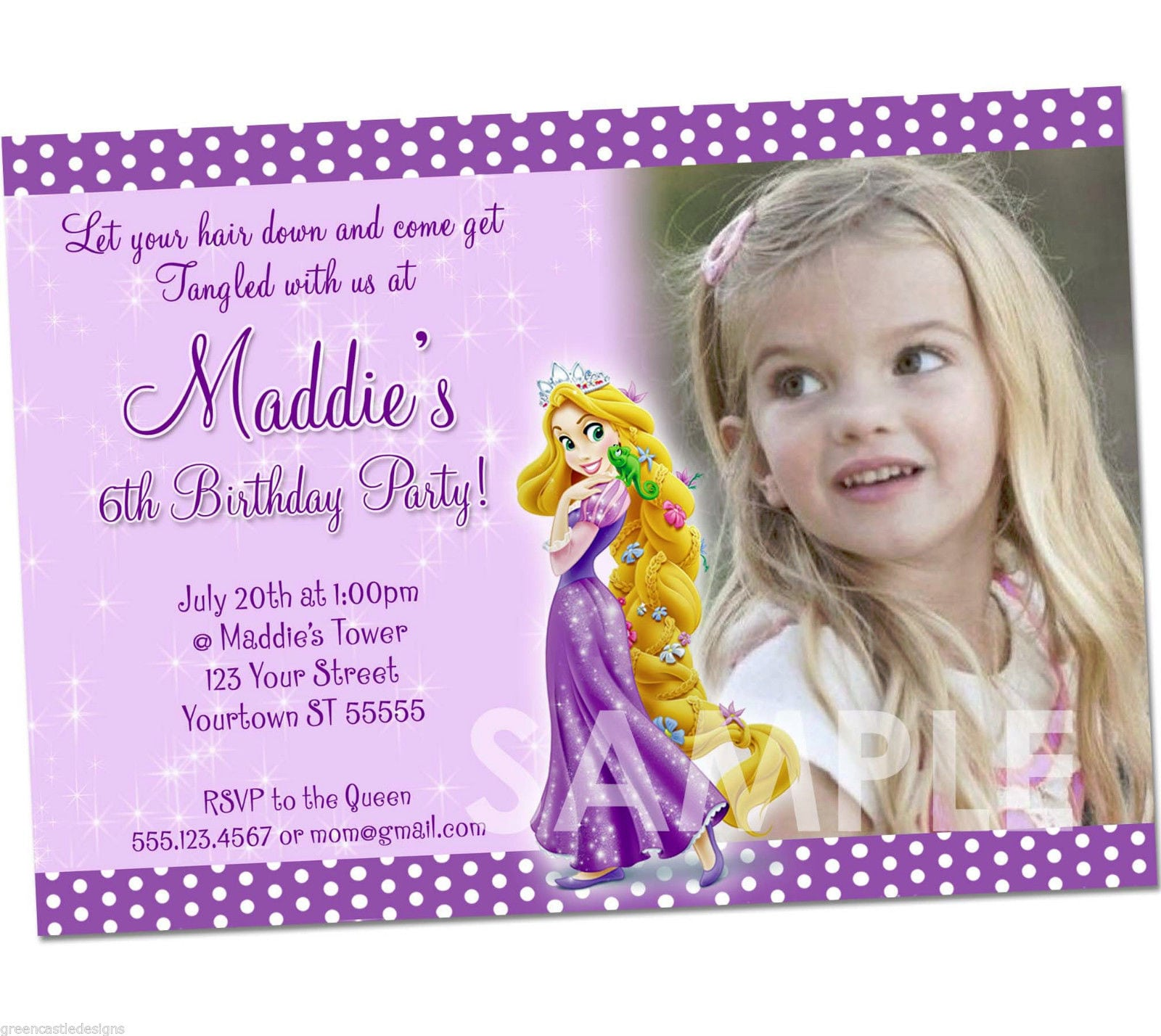 Tangled Birthday Invitations Free