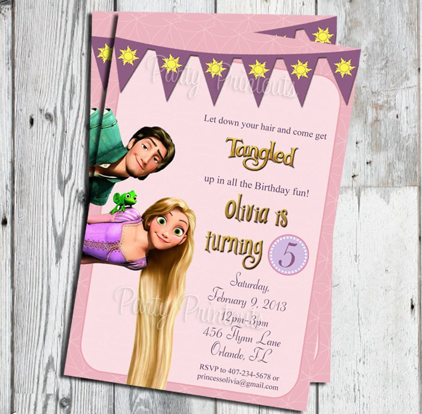 Tangled Party Invitation Printable