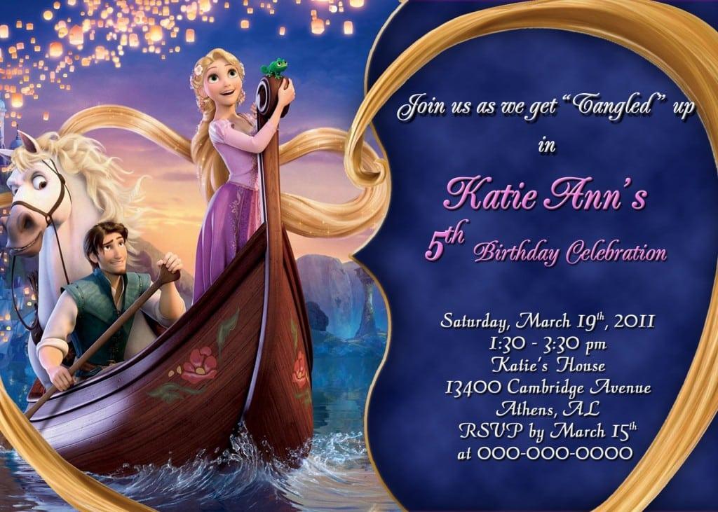Tangled Rapunzel Invitations