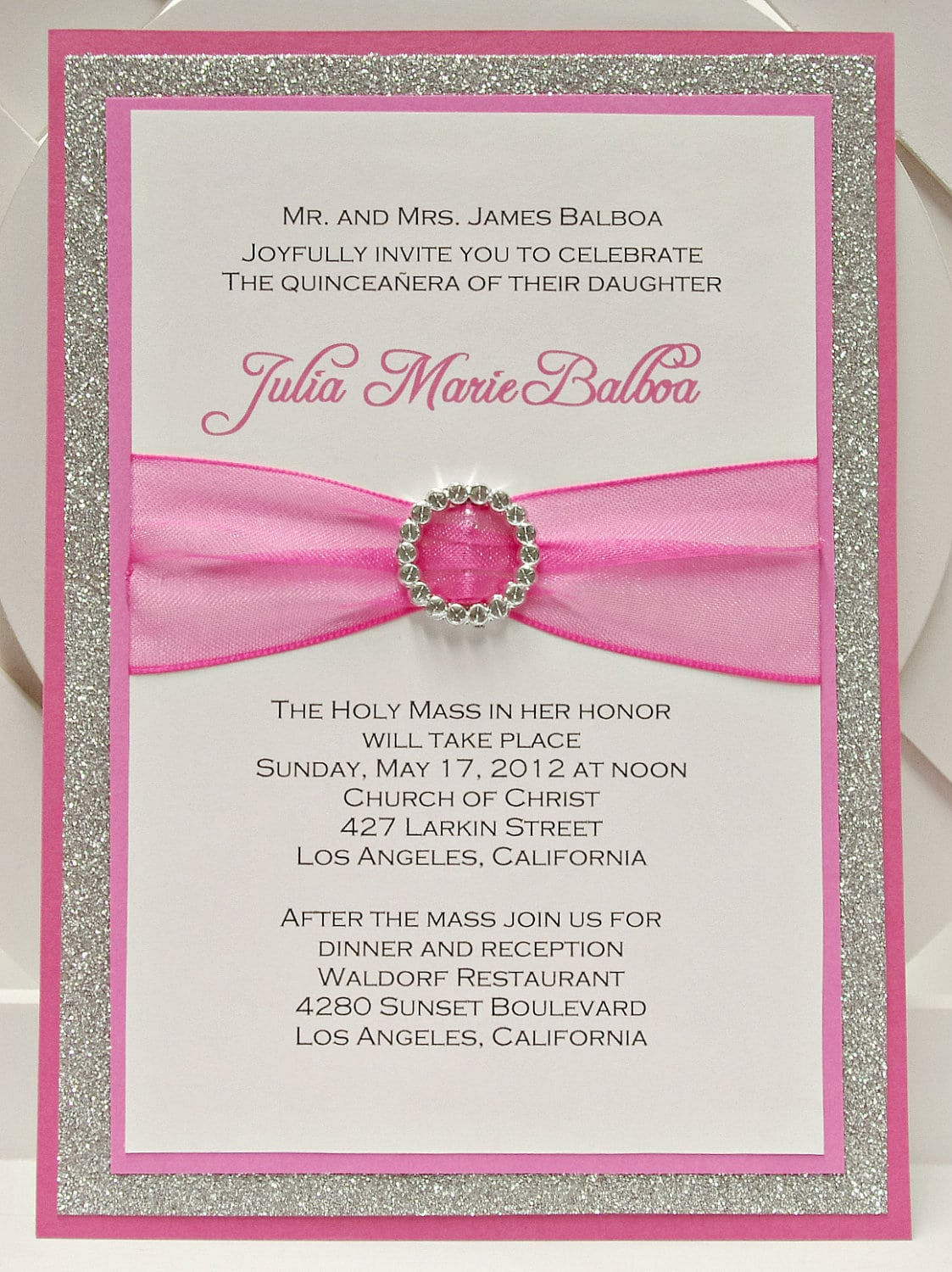 Template For Quinceanera Invitation Free