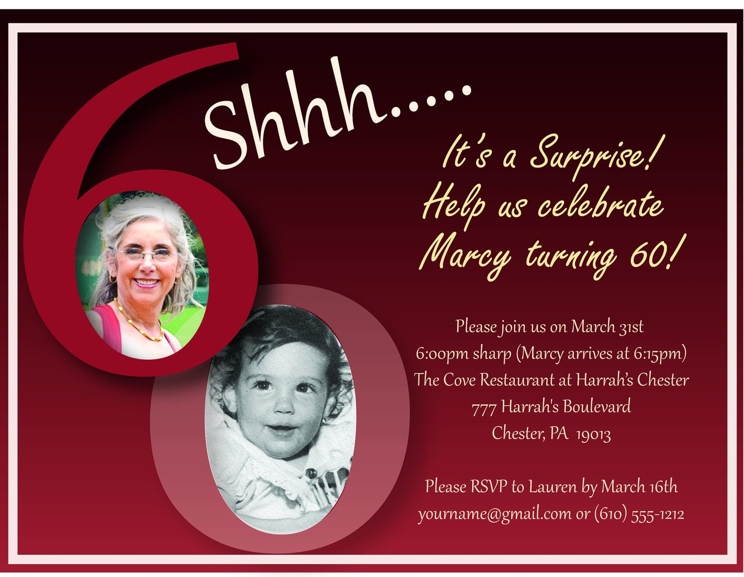 Templates For 60th Birthday Party Invitations