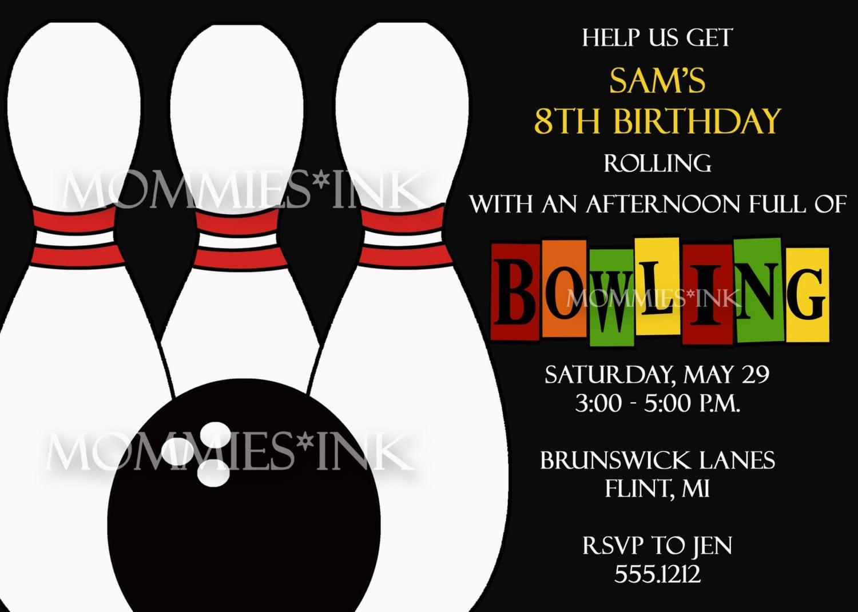 Ten Pin Bowling Invitation Templates