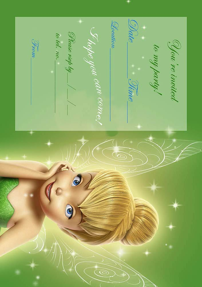 Tinkerbell Birthday Party Invitations Printable Free