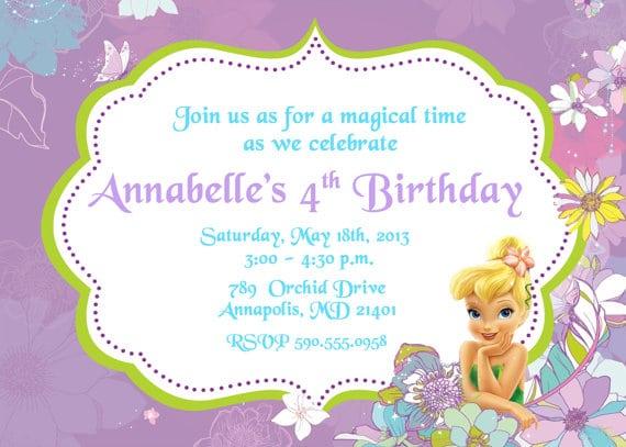 Tinkerbell invitation card stopboris Choice Image