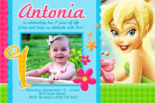Tinkerbell Invitation Cards For Birthdays Free
